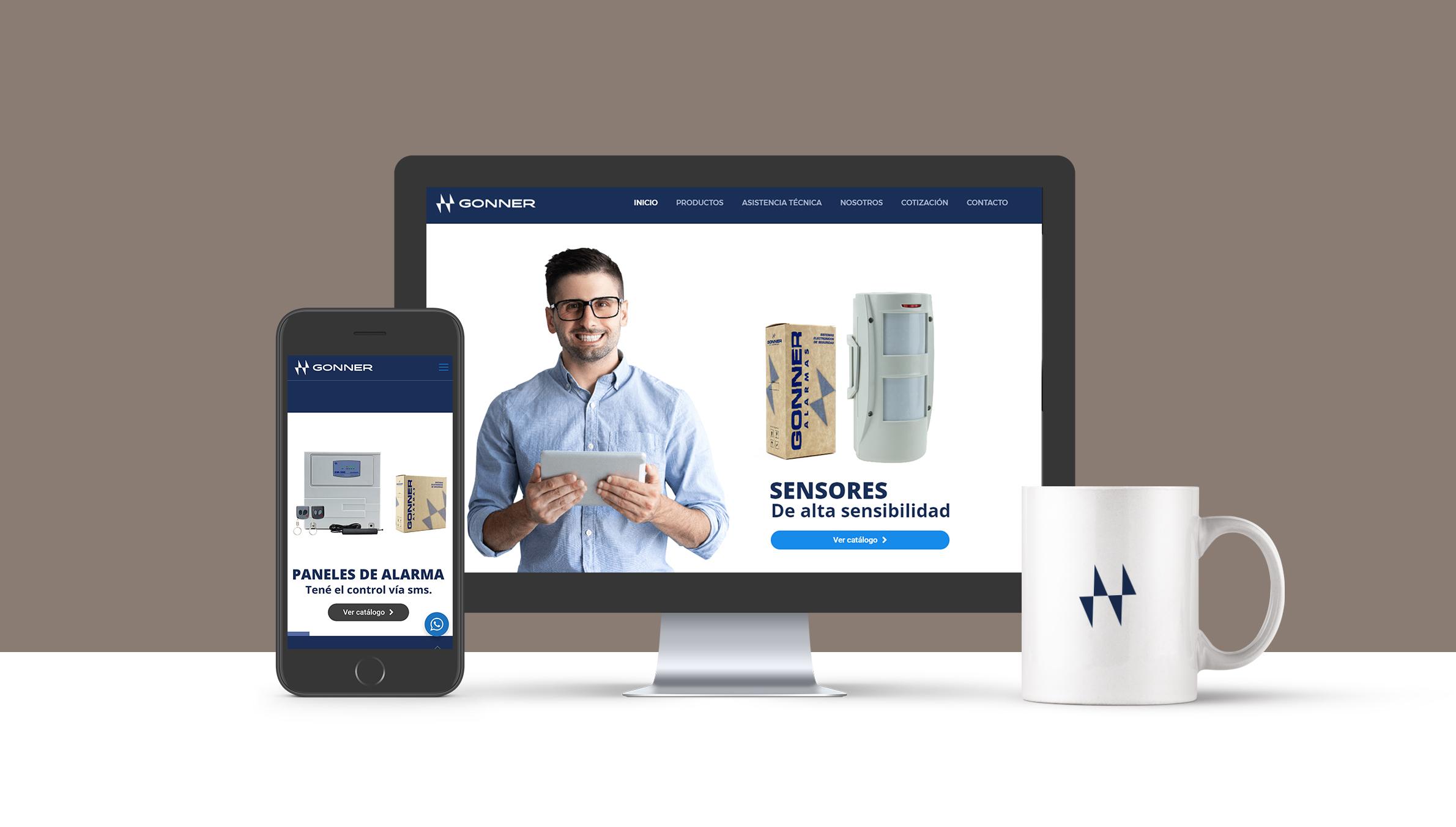 Optimización visual y fotografías de productos para Gonner Alarmas